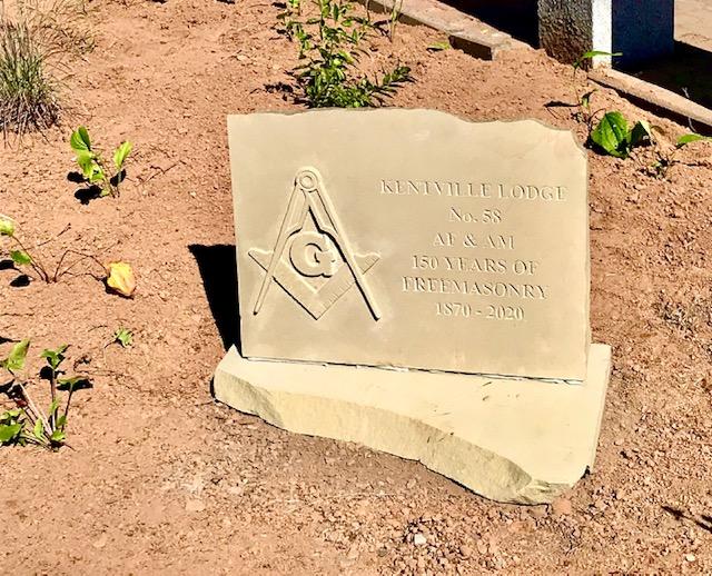 Monument outside the Kentville Heritage Centre